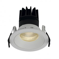 Ansell Unity 80 13W Cool White Fixed White LED Downlight with Digital Dimming and Emergency Backup