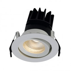 Ansell Unity 80 13W Cool White Gimbal White LED Downlight with Digital Dimming and Emergency Backup