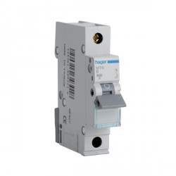 Hager MTN140 40amp Type B 6kA Single Pole MCB
