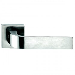 Hamilton Luxury Door Handle Pair of 2732 Satin Steel Handle/Satin Steel Plate