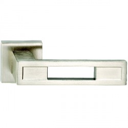 Hamilton Luxury Door Handle Pair of 2735 Satin Nickel Handle/Satin Nickel Plate