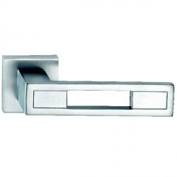 Hamilton Luxury Door Handle Pair of 2735 Satin Chrome Handle/Satin Chrome Plate