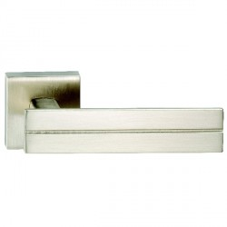 Hamilton Luxury Door Handle Pair of 2736 Satin Nickel Handle/Satin Nickel Plate