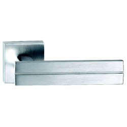 Hamilton Luxury Door Handle Pair of 2736 Satin Chrome Handle/Satin Chrome Plate