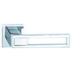 Hamilton Luxury Door Handle Pair of 2737 Bright Chrome Handle/Bright Chrome Plate
