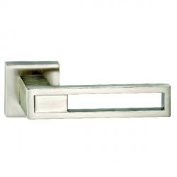 Hamilton Luxury Door Handle Pair of 2737 Satin Nickel Handle/Satin Nickel Plate