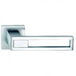 Hamilton Luxury Door Handle Pair of 2737 Satin Chrome Handle/Satin Chrome Plate