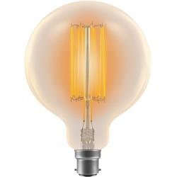 Crompton Lamps Antique Decorative Range AB009 125mm Globe Lamp G125 60W BC Filament Light Bulb