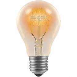 Crompton Lamps Antique Decorative Range AB002 55mm GLS 60W ES Spiral Filament Light Bulb