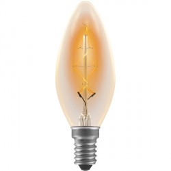 Crompton Lamps Antique Decorative Range AB004 35mm Candle 40W ES Filament Light Bulb