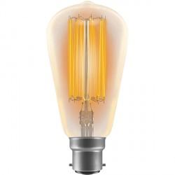 Crompton Lamps Antique Decorative Range AB019 64mm Squirrel Cage 60W BC Filament Light Bulb