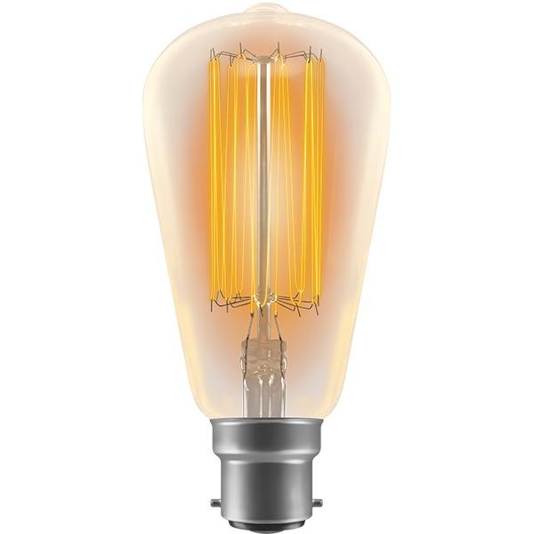 Crompton Lamps Antique Decorative Range Ab Mm Squirrel Cage W Bc Filament Light Bulb