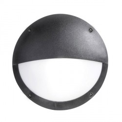 Fumagalli 2R3.000.AY.E27 IP66 18W Lucia Low Energy E27 Wall & Ceiling Bulkhead Lamp With Eyelid - Black