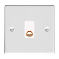 Hamilton Hartland Gloss White 20A Cable Outlet with White Insert