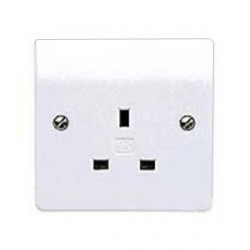 MK Electric Logic Plus™ White 13A 1 Gang Unswitched Socket