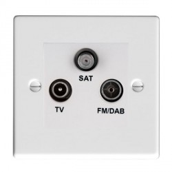 Hamilton Hartland Gloss White TV+FM+SAT (DAB Compatible) with White Insert