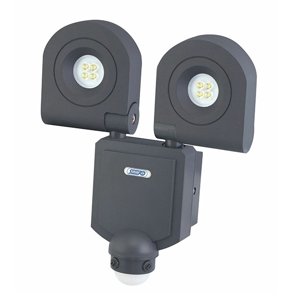 size 40 b3cc9 29e01 Selectric SES-4 IP54 2 x 10W Twin LED Floodlight with motion sensor -  Midnight Grey