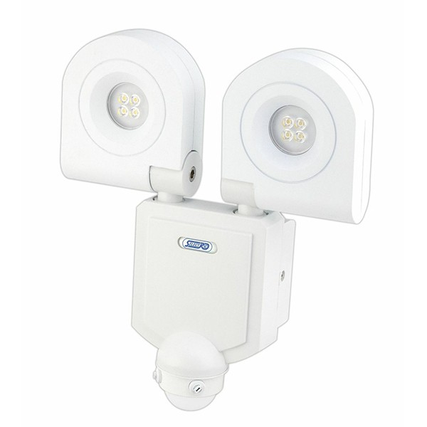 quality design 5fcaa de8c0 Selectric SES-10 IP54 2 x 10W Twin LED Floodlight with motion sensor - White