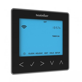 Heatmiser neoStat-hw Smartphone Controlled Programmable Hot Water Thermostat in Black