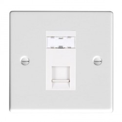 Hamilton Hartland Gloss White 1 Gang RJ45 Outlet Cat 5e Unshielded with White Insert