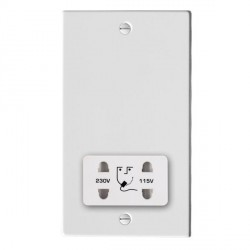 Hamilton Hartland Gloss White Shaver Socket Dual Voltage with White Insert