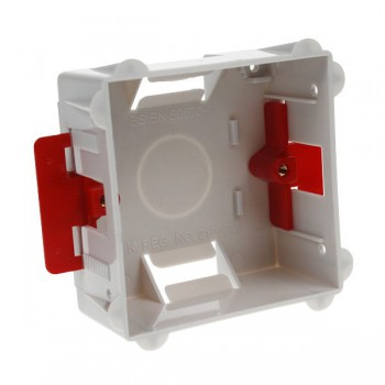 Deta Electrical DB2547 1 Gang 35mm Flush Dry Lining Box for Flat Plate Fittings