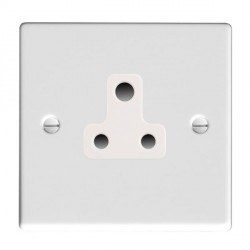 Hamilton Hartland Gloss White 1 Gang 5A Unswitched Socket with White Insert
