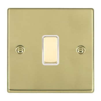 Hamilton Hartland Polished Brass 1 Gang Multi way Touch Master Trailing Edge with White Insert