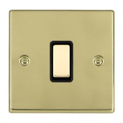 Hamilton Hartland Polished Brass 1 Gang Multi way Touch Slave Trailing Edge with Black Insert