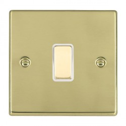 Hamilton Hartland Polished Brass 1 Gang Multi way Touch Slave Trailing Edge with White Insert
