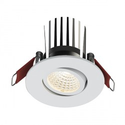 Ansell Savona 10W Cool White Non-Dimmable Gimbal White LED Downlight