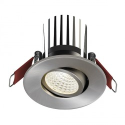 Ansell Savona 10W Cool White Non-Dimmable Gimbal Satin Chrome LED Downlight