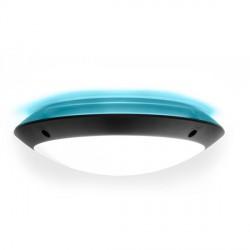 Fumagalli 1R3000000AYE27BU1 Lucia Backlit Black 18W E27 Bulkhead Blue