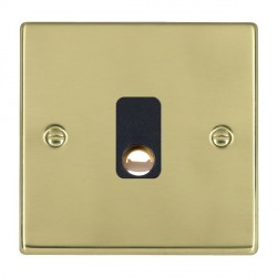Hamilton Hartland Polished Brass 20A Cable Outlet with Black Insert
