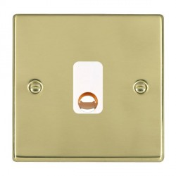 Hamilton Hartland Polished Brass 20A Cable Outlet with White Insert