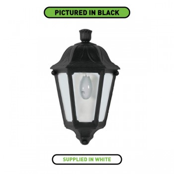 Fumagalli M22.000.WX.E27 Iesse White Half Lantern