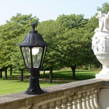 Fumagalli E35.113.AX.E27 Noemi Lot 710mm Black Pedestal Lantern