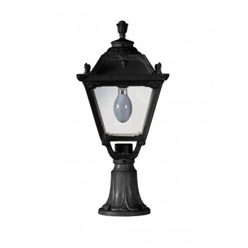 Fumagalli Q33.113.AX.E27 Tobia Lot 700mm Black Pedestal Lantern