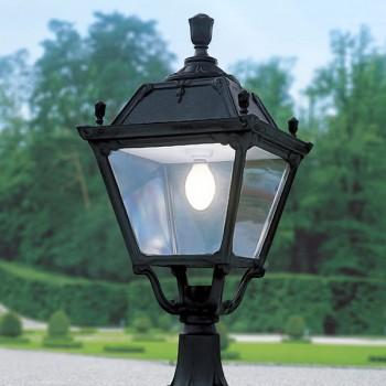 Fumagalli Q43.113.AX.E27 Elia Lot Black Pedestal Lantern