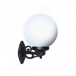 Fumagalli G25.131.AY Globe 250 Bisso Black Wall Light