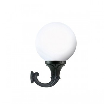 Fumagalli G40.132.AY.E27 Globe 400 Ofir Black Wall Light