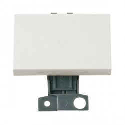 Click Minigrid MD009WH 10AX 2 Way Paddle Switch Module White