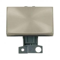 Click Minigrid MD009SC 10AX 2 Way Ingot Paddle Switch Module Satin Chrome