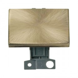 Click Minigrid MD009AB 10AX 2 Way Ingot Paddle Switch Module Antique Brass