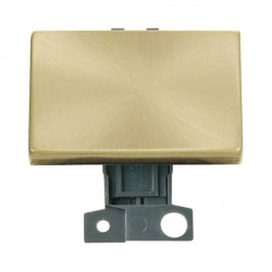 Click Minigrid MD009SB 10AX 2 Way Ingot Paddle Switch Module Satin Brass