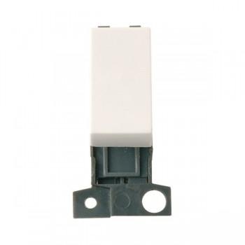 Click Minigrid MD004PW 10AX 2 Way Retractive Switch Module Polar White