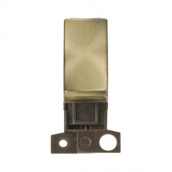 Click Minigrid MD004AB 10AX 2 Way Ingot Retractive Switch Module Antique Brass
