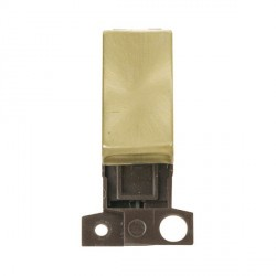 Click Minigrid MD004SB 10AX 2 Way Ingot Retractive Switch Module Satin Brass