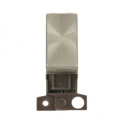 Click Minigrid MD004BS Brushed Steel 10AX 2 Way Ingot Retractive Switch Module