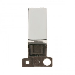 Click Minigrid MD018CH 13A Resistive 10AX DP Ingot Switch Module Chrome